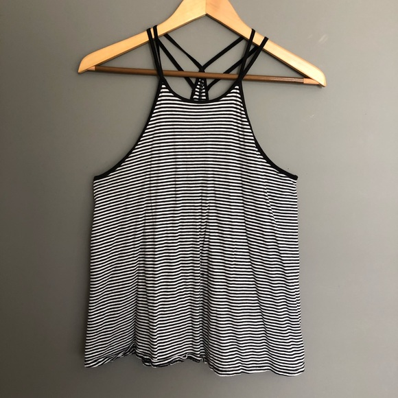 🦋3 for $30🦋  Striped High Neck Tank